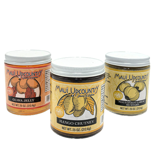 maui upcountry jams and jellies guava jelly, maui mango chutney and maui onion garlic mustard