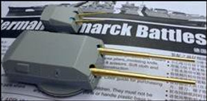 1/200 BDB Battleship Bismarck Brass Barrels 15 and 5.9 for Trumpeter