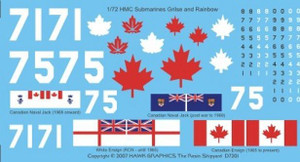 1/72 Hawk Graphics CDN Subs Grilse/Rainbow