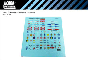 1/700 Hobby Elements Soviet Navy Flags and Pennants Decals Set