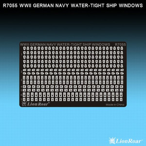 1/700 Lion Roar WWII German Navy Water Tight Ship Windows