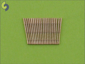 1/350 Master Models Brass Barrels IJN 25mm AA Barrels (20pcs) Brass Barrels