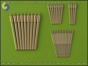 1/350 Master Models Brass Barrels Scharnhorst Brass Barrels For Use With Blast Bags