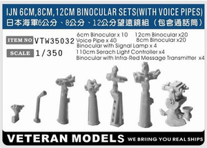 1/350 Veteran Models IJN 6cm, 8cm, 12cm Binocular Set w/ Voice Pipes