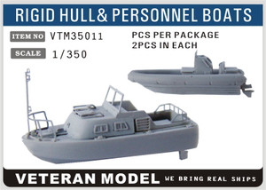 1/350 Veteran Models Modern US Navy Rigid Hull & Personnel Boats
