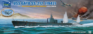 1/200 Riich Models USS GATO SS-212 Submarine 1942 with Bonus OS2U Seaplane 1/200 Kingfisher