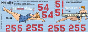 Warbird Decals 1/32 Warbird Decals P61 Virgin Widow, Husslin Hussy Pacific Theatre 1944-45