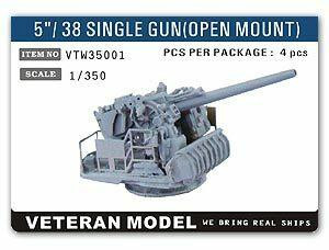Veteran Models 1/350 Veteran Models 5/38 Single Gun Open Mount