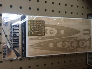 Hunter Wood Decks 1/700 Hunter Wood Deck WWII German Tirpitz for Revell 5099