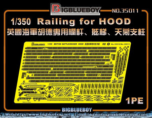 Big Blue Boy 1/350 Big Blue Boy Rails Railing for HMS Hood