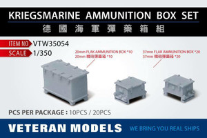 Veteran Models 1/350 Veteran Models Kriegsmainre Ammunition Box Set