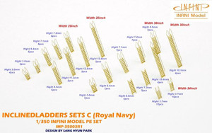 Infini Models 1/350 Infini Models WWII Hms Inclined Ladders Set C