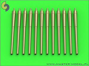 Master Models 1/700 Master Models USN 14in/50 35,6 cm gun barrels - for turrets without blastbags 12pcs - New Mexico BB-40 and Tennessee BB-43 classes