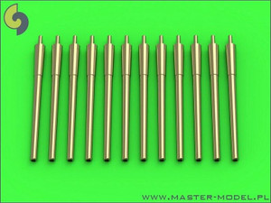 Master Models 1/700 Master Models USN 14in/50 35,6 cm gun barrels - for turrets with blastbags 12pcs - New Mexico BB-40 and Tennessee BB-43 classes