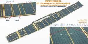 Infini Models 1/350 Infini Model USS Enterprise CV-6 Wood Deck Set - Deck Blue