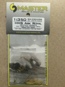 Master Models 1/350 Master Models HMS Ark Royal Armament Barrles 4.5 in 16pcs 2-PDR-POM 48 pcs Vickers 0.5 in 32 pcs