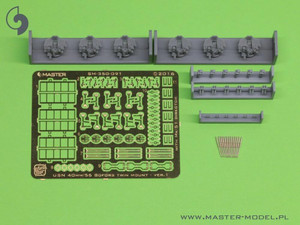 Master Models 1/350 Master Models USN 40mm Bofors Twin Mount Ver 1 with MK-51 Director 6 pcs