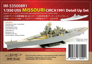 Infini Models 1/350 Infini Models USS MISSOURI CIRCA 1991 Detail up set for Tamiya Missouri kit No Ta78029