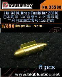 Big Blue Boy 1/350 IJN 330L rop Tank For Zero 6pcs