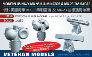 Veteran Models 1/350 Veteran Models Modern US Navy MK-95 Illuminator and MK-23 TAS Radar