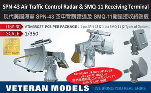 Veteran Models 1/350 Veteran Models SPN-43 Air Traffic Control Radar and SMQ-11 Receiving Terminal