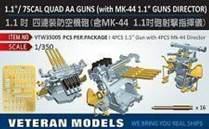 Veteran Models 1/350 Veteran Models 1.1/ 75Cal Quad Guns With MK-44 1.1 Guns Director