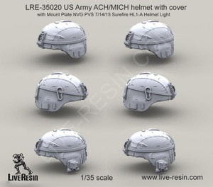 Live Resin 1/35 Live Resin US Army ACH/MICH helmet set 2