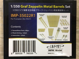 Infini Models 1/350 Infini Models Graf Zeppelin German Aircraft Carrier Metal Gun Barrels Set