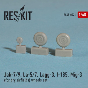 Reskit 1/48 Reskit Jak-7/9, La-5/7, Lagg-3, I-185, Mig-3 for dry airfields wheels set