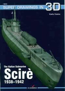 Kagero Publishing Kagero Super Drawings 3D Italian Submarine Scire 1938-1942 Book - 16044