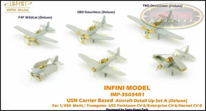 Infini Models 1/350 Infini Models USN Carrier Based Aircraft DETAIL UP Set A - Deluxe