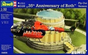 Revell 1/32 Revell Messerschmitt BO105 35th Anniversary of Roth Helicopter Kit