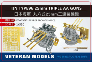 Veteran Models 1/350 Veteran Models IJN Type 96 25mm Triple AA Guns