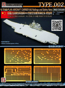 Big Blue Boy 1/700 Big Blue Boy PLAN Aircraft Carrier Shandong Rainling and Safety Nets