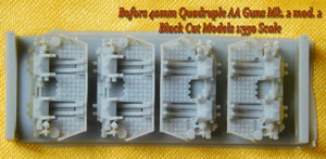 Black Cat Models 1/350 Black Cat Models 40MM BOFORS QUAD GUN MK.2 MOD.2 X4