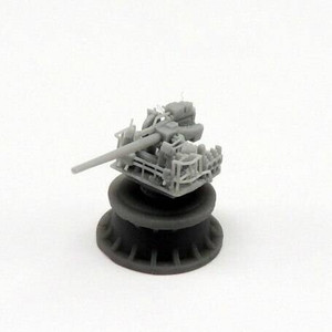 Black Cat Models 1/350 BLACK CAT MODELS 5IN/38 MK.21 GUN ON SEMI ENCLOSED MOUNT X4