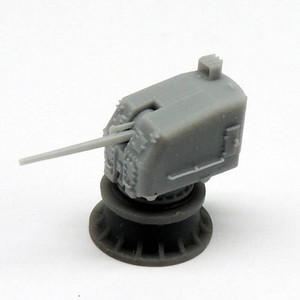 Black Cat Models 1/350 BLACK CAT MODELS 5in/38 Mk.30 gun on close mount single knukle x2