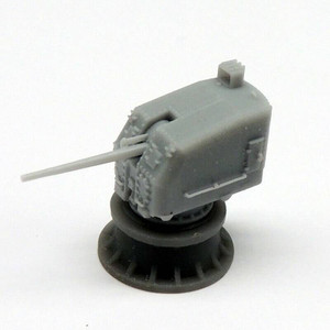Black Cat Models 1/350 BLACK CAT MODELS 5in/38 Mk.30 gun on close mount double knukle x2