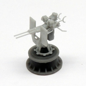 Black Cat Models 1/144 BLACK CAT MODELS 20MM OERLIKON MK.24 TWIN GUN WITH MK.14 GUNSIGHT X2