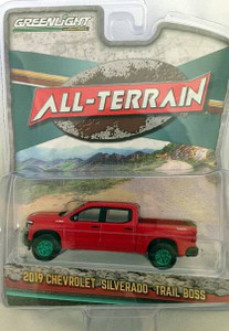 Greenlight Greenlight 1/64 All Terrain 9 - 2019 Chevrolet Silverado LT Trail Boss - Red GREEN MACHINE