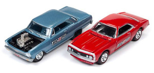 Johnny Lightning Johnny Lightning 2 Pack 1/64 - Nickey 1965 Chevy Nova and 1967 Chevy Camaro