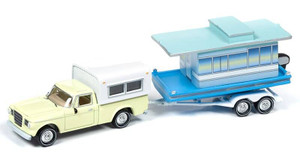 Johnny Lightning Johnny Lightning Hulls and Haulers 1/64 2019 2A - 1960s Studebaker Pickup, Yellow w/Houseboat