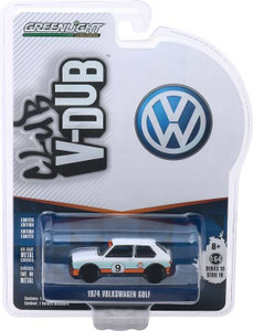 Greenlight Greenlight 1/64 Club Vee-Dub 10 - 1974 Volkswagen Golf - #9 Gulf Oil