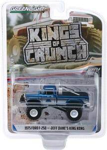 Greenlight Greenlight 1/64 Kings of Crunch 6 - King Kong, 1975 Ford F-250 Original Blue Monster Truck