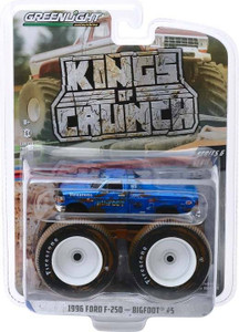 Greenlight Greenlight 1/64 Kings of Crunch 6 - Bigfoot #5, 1996 Ford F-250 Monster Truck Dirty Version