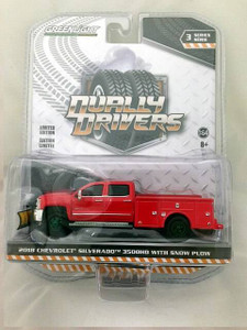 Greenlight Greenlight 1/64 Dually Drivers 3 - 2018 Chevy Silverado 3500 Dually Service Bed, GREEN MACHINE
