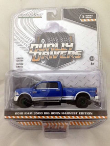Greenlight Greenlight 1/64 Dually Drivers 3 - 2018 Ram Harvest Edition Dually - GREEN MACHINE