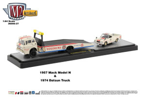 M2 Machines M2 Machines Auto Haulers 37 - 1957 Mack and 1974 Datsun Pickup