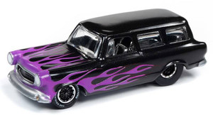 Johnny Lightning Johnny Lightning 1/64 Street Freaks 2020 1A - 1960 AMC Rambler Wagon, Black Pearl with Purple