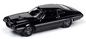 Johnny Lightning Johnny Lightning 1/64 Street Freaks 2020 1A - 1972 Ford Torino, Black